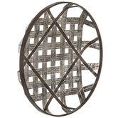 Woven Tobacco Basket Metal Wall Decor
