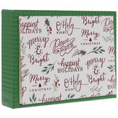Happiest Holidays Greenery Cards