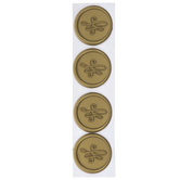Gold Flourish Envelope Seals