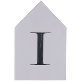 White & Black Letter House Wood Wall Decor - I