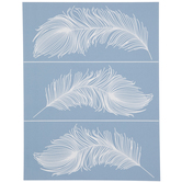 Feather Fury Adhesive Silkscreen Stencil