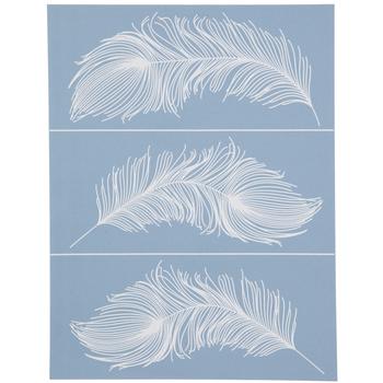 Feather Fury Adhesive Silkscreen Stencil