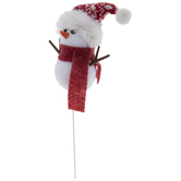 Red Hat Snowman Pick