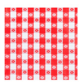 Red & White Gingham Table Cover Roll