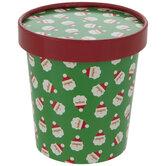 Santa Paper Snack Cups With Lids