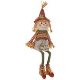 Happy Harvest Plush Scarecrow Girl Shelf Sitter