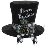 Merry Christmas Top Hat Tree Topper