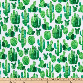 Desert Cactus Cotton Calico Fabric