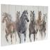 Galloping Horses Wood Wall Decor