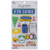 Sixth Grade 3D Stickers