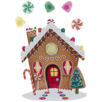 Gingerbread House 3D Stickers