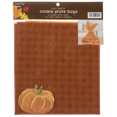 Orange Plaid Cookie Plate Bags With Tags