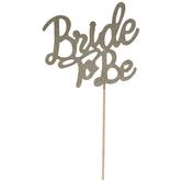 Bride To Be Glitter Cake Topper