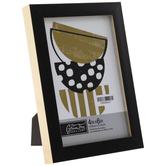 "Black & Gold Flat Frame - 4"" x 6"""