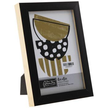 Black & Gold Flat Frame