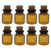 Amber Mini Glass Bottles