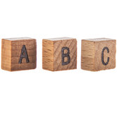 Wood Alphabet Tile Embellishments