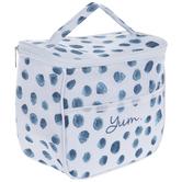 Blue Watercolor Polka Dot Lunchbox
