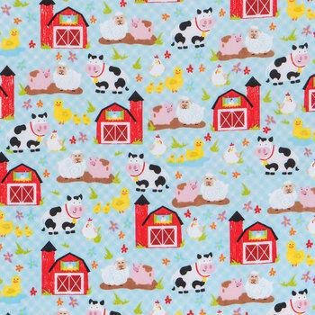 Farm Animals Flannel Fabric