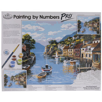 Village On The Water Paint By Number Kit