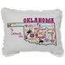 Oklahoma Embroidered Pillow