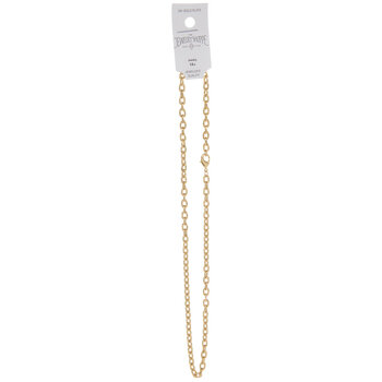 10K Gold Plated Lined Cable Chain Necklace