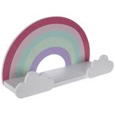 Rainbow Wood Wall Shelf