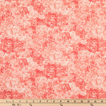Pink Packed Roses Cotton Calico Fabric
