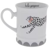 Cheetah With Pink Bow Tie Mug