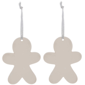 White Gingerbread Man Ornaments