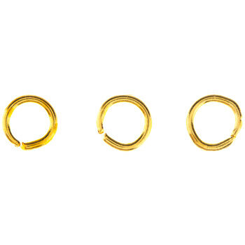 18K Gold Plated Round Jump Rings