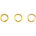 18K Gold Plated Round Jump Rings - 4mm