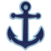 Navy Anchor Painted Wood Shape