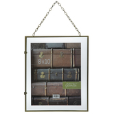 "Gold Float Wall Frame With Chain - 8"" x 10"""
