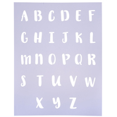 """Handwritten Letter Alphabet Stencil - 1"""""""