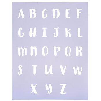 Handwritten Letter Alphabet Stencil