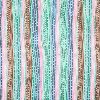 Cactus Striped Apparel Fabric