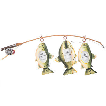 Fish On Fishing Pole Collage Frame