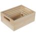Wood Box With Handles Set