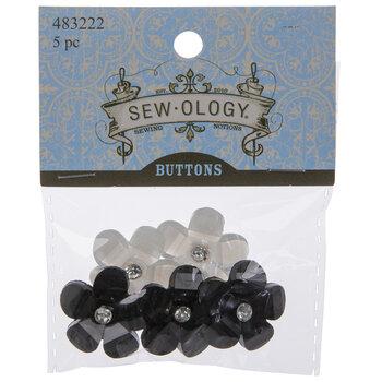 Sparkle Flower Shank Buttons - 26mm