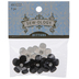 Black & White Sparkle Flower Shank Buttons - 26mm