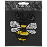Bee Rhinestone Iron-On Applique