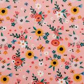 Peach Garden Minky Fleece Fabric