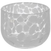 White Spotted Glass Vase