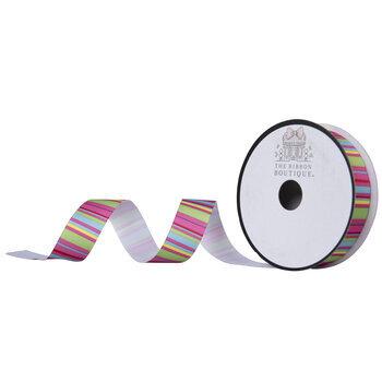 "Bright Striped Grosgrain Ribbon - 7/8"""