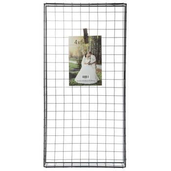 Black Metal Wire Grid Clip Collage Frame
