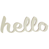 Hello Wood Cutout
