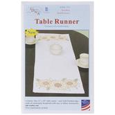Golden Sunflowers Embroidery Table Runner Kit