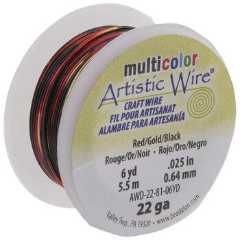 Red & Black Artistic Wire - 22 Gauge