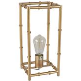 Gold Bamboo Look Metal Lamp